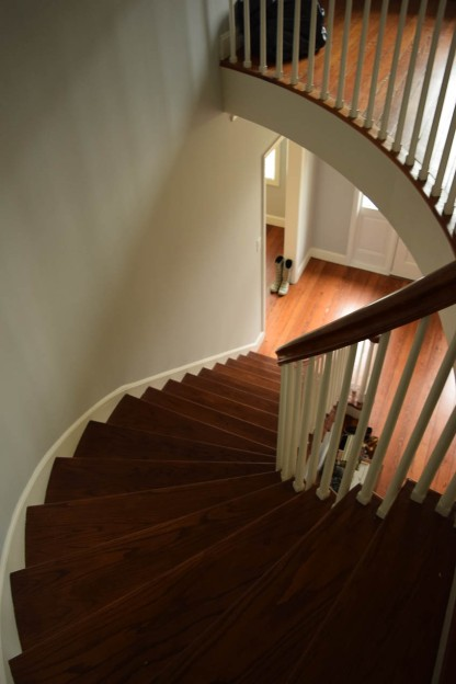 Home's Main Stair Case from the 2nd Floor