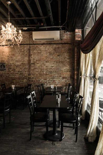 Exposed brick walls make Lulu's Space extra special!