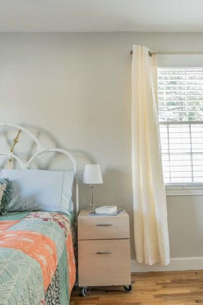 The guestroom nightstand.