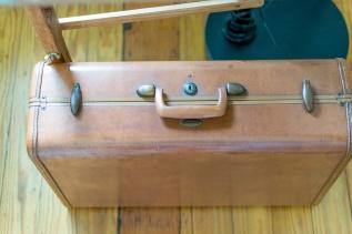 Top View of Vintage suitcase