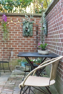 Patio chairs and table.