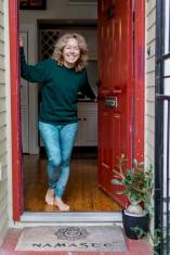 Cindy greets us at her doorstep. Namaste!